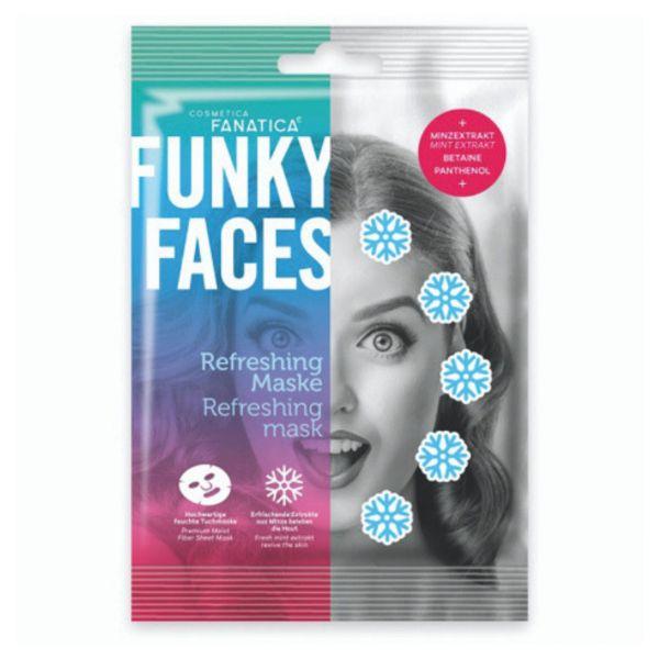 Tuchmaske Erfrischung Funky Faces
