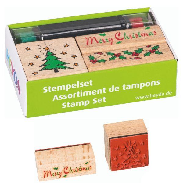 Weihnachtsstempel Set, Merry-Christmas