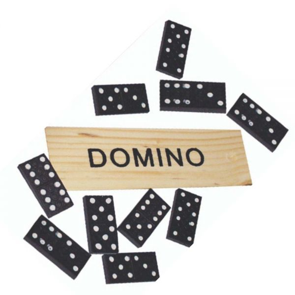 Domino Spiel, Holzbox