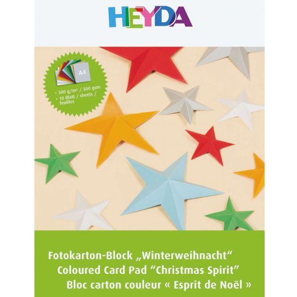 Fotokarton Weihnachten A4, 10 Farben