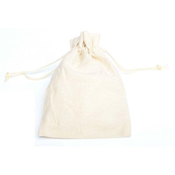 Baumwollsäckchen crème, 15 x 10 cm