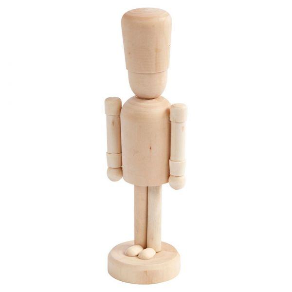 Holzfigur mit Hut, 18 cm