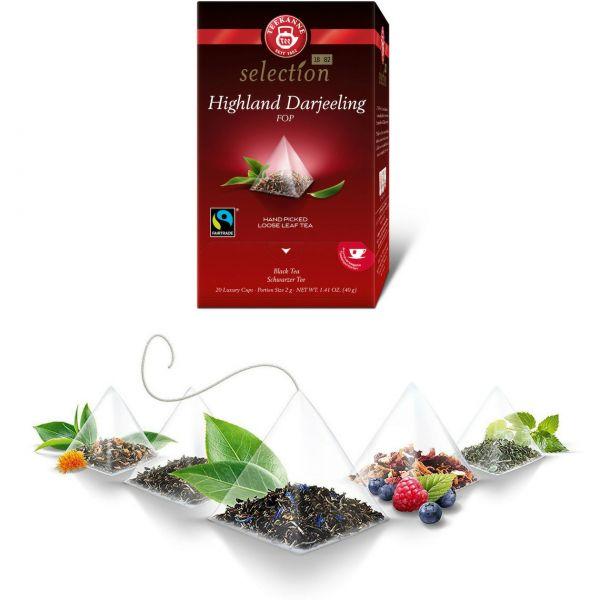 Teekanne selection, Highland Darjeeling, Pyramidenbeutel