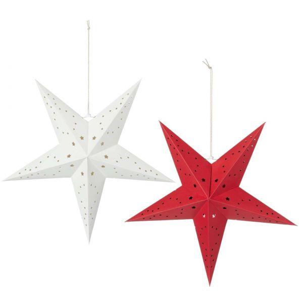 Papierstern Weihnachten, 60 cm, sortiert