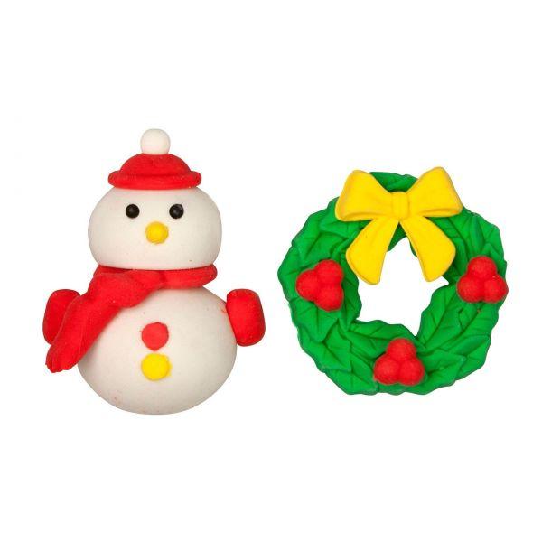 Radiergummi Weihnachten, Winterzeit, 2er-Set